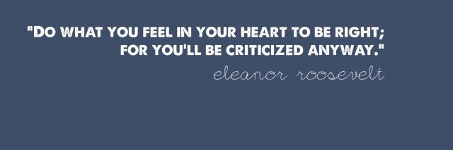 Eleanor is onto something.